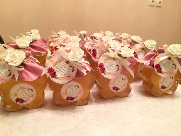 Мёд баночках, Тойбастар, Медовые бонбонерки