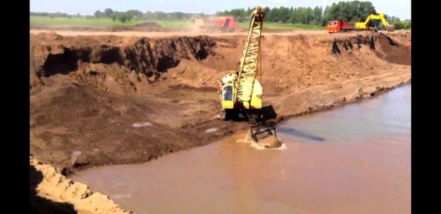 Песок речной, строительный,