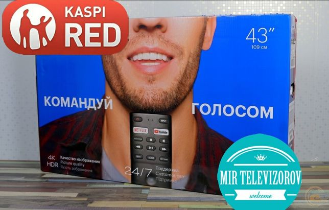 109см Новый Голосовое управление Smart 4K led derect  успей забрать