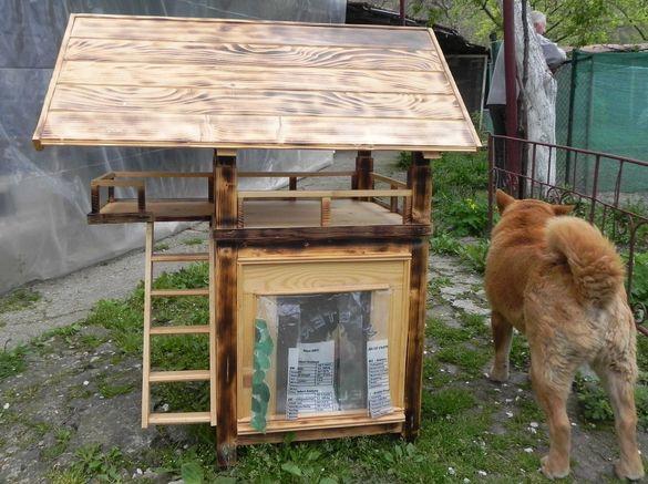 Къща за котки, кученца и декорация на градина или тераса