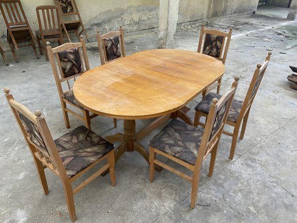 Маса и шест стола коплект