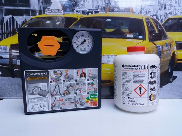 Kit pana umflat roti auto compresor +solutie original Continental 120W