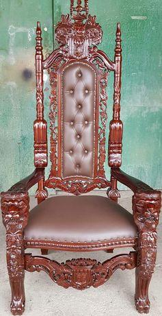 Ralf chair, Кралски стол - тиково дърво , внос от Индонезия