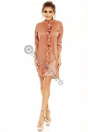 Rochie tip camasa cu volănașe