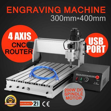 CNC 3040 surub gravura lemn metal aluminiu pcb router 4 axe