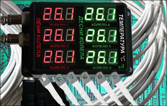 Термометър многоканален, за ремарке, за следене на температури