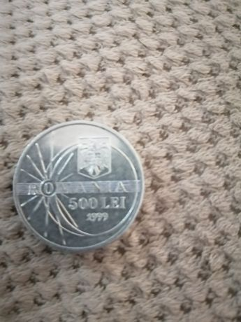 Moneda 500 lei eclipsa 1999
