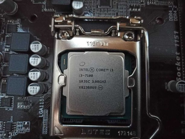 GA-H110M-S2V и intel core i3-71 0 0 3.90ghz в сборе