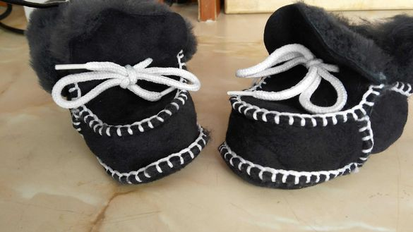Топли пантофки за новородено