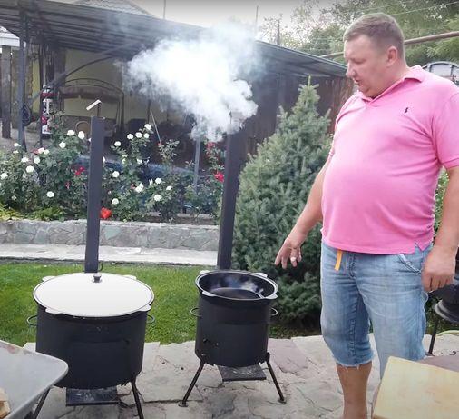 Комплект Казан 16л + печь с трубой 3мм сталь и шумовка в Таразе