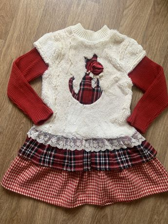 Платье осень зима
