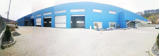 Hală industrială metalică de închiriat cu showroom