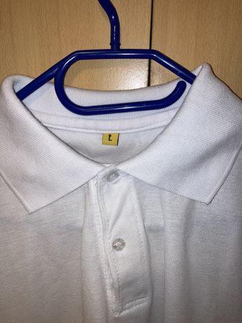 Тениска чисто бяла мъжка