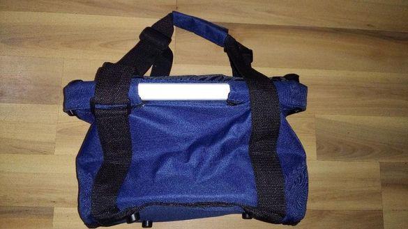 Чанта - кошница за колело - сгъваема, шишета със закрепващо