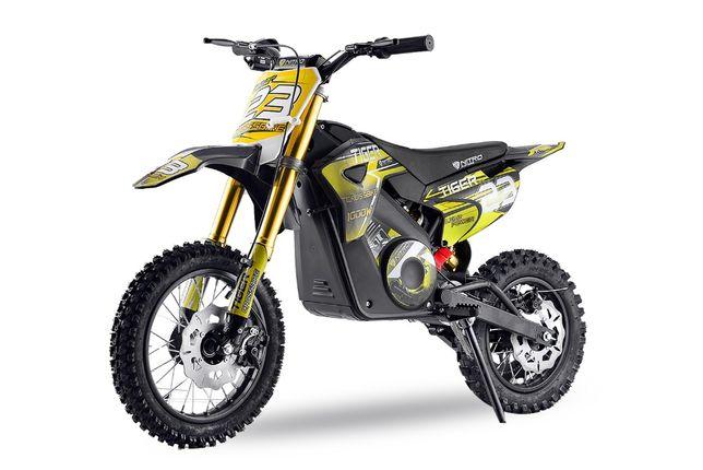Motocicleta electrica pentru copii Eco Tiger 1000W 36V 12/10 #Verde