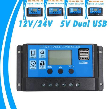 Соларен контролер 60А 12v - 24v вход 50v соларен панел регулатор
