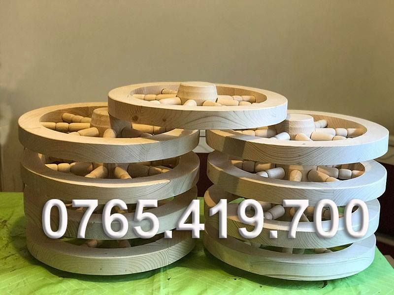Roti din lemn de rasinoase - roti din lemn decorative Pitesti - imagine 1
