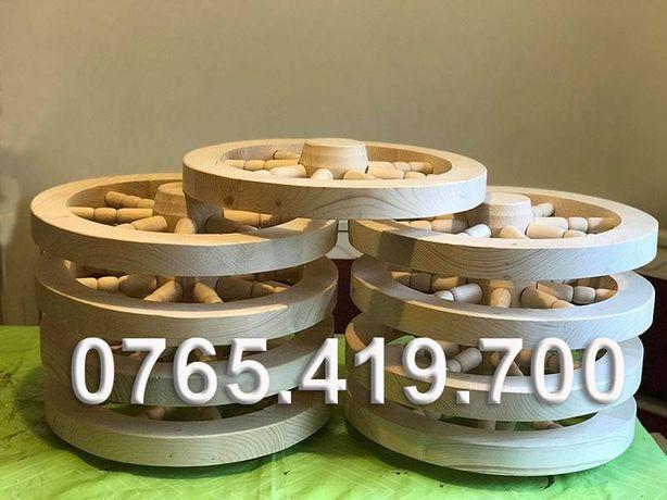 Roti din lemn de rasinoase - roti din lemn decorative