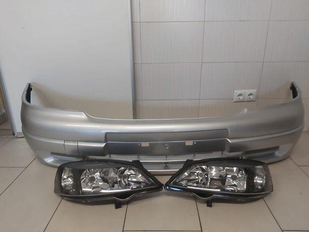 Pachet Bara+Faruri Fata Dreapta-Stanga Opel Astra G 1998-2004 Z157-Gri