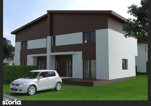 Duplex situat in complex rezidential, teren generos, acte la zi