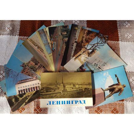 Колекционерски комплекти картички/снимки от Ленинград и Москва - 1971г
