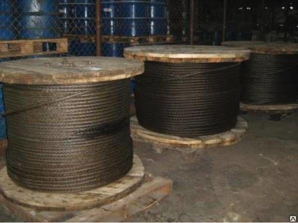 Продам стальной канат (Трос) ГОСТ 16853 или 7669 диаметром 25 мм. МС.
