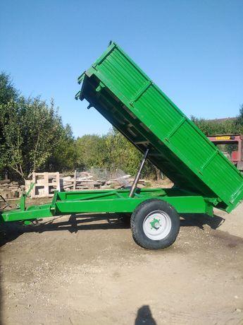Vând remorcă agricolă de 5 tone ca nouă
