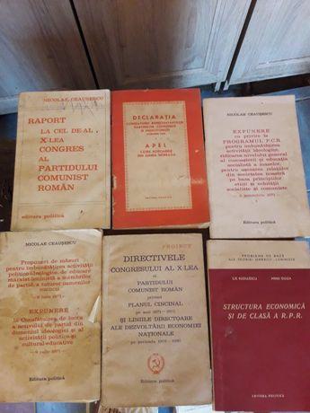 Vând cărți comuniste de colectie din anii 1950 -1970.