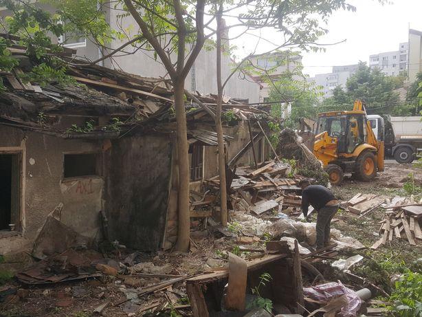 Demolări case -Sapaturi cu utilaje performante pamant de umplutură