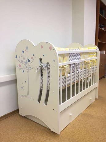 Манеж кровать для новорожденных с маятником, на колесах! Россия ВДК!