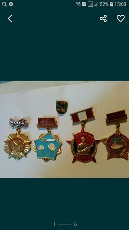 Советские воинские знаки,артиллерия, десант,САВО,и королевские войска