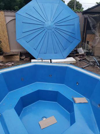 Mini piscina din fibra de sticla ciubar 7 -13 persoane