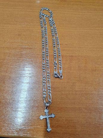 Lant si cruce din argint 925, nou