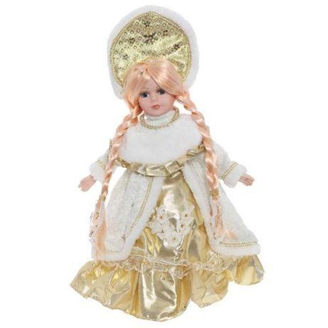 фарфоровая кукла красавица две косы 30 см с кокошником 40см