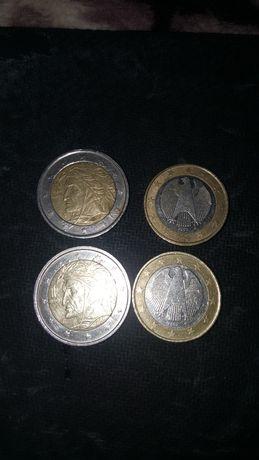 monede 1 euro si 2 euro rare