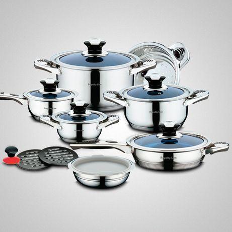 НОВ Кухненски комплект съдове ROYALTY LINE RL-16BG - 16 части