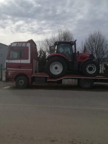 Transport utilaje, tractoare, taf, cap tractor, etc.