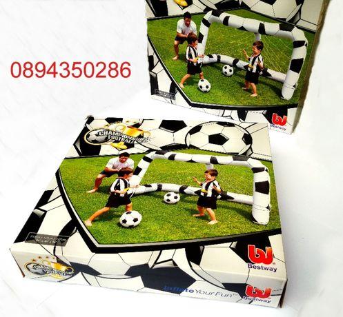 Надуваема футболна врата с топки Bestway