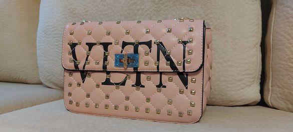 """Луксозно розово бижу -чанта """" Valentino """""""