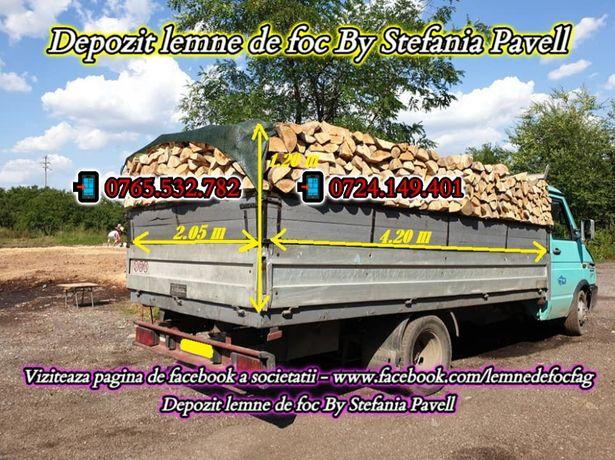 Depozit lemne de foc fag , taiate si crapate pentru foc