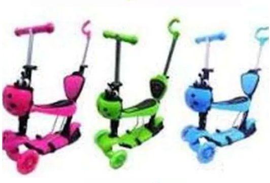 Тротинетка с родителски контрол,скутер, триколка със светещи гуми