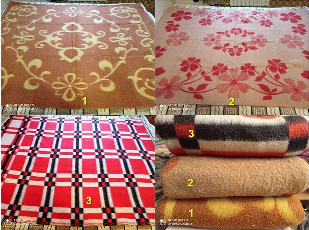Шерстяные одеяла (100% овечья шерсть) времен СССР для детской/спальни
