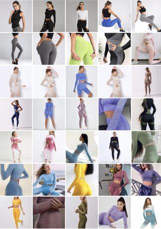 Спортивная фитнес одежда для девушек. Лосины, леггинсы