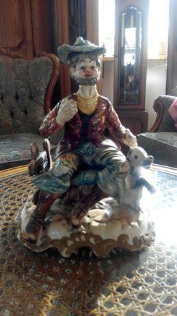 Statueta Capodimonte -Batrinul cu cainele