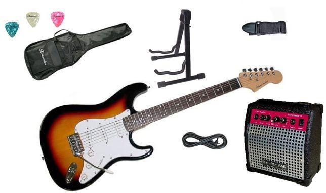 Set chitara electrica Santander ST500 SUNBURST Hy-X-AMP Soundmaster 15