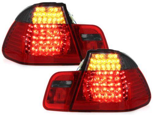 Stopuri LED BMW Seria 3 E46 Limuzina 2001-2004 Rosu/Fumuriu 4 usi