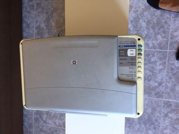 Продавам комбиниран принтер HP със скенер -цветен