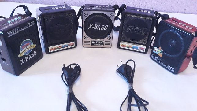 Радиоприёмники  X-BASS. Не в рабочем состоянии. По 500-тг за штуку.