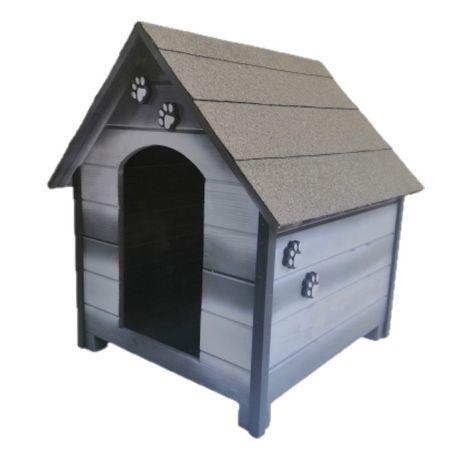 Къща за куче - Сива,размер Л - Къщичка за кучета,Колиба за кученца