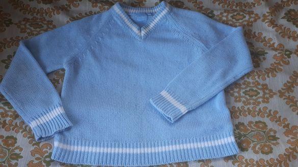 Млечно син кроп пуловер